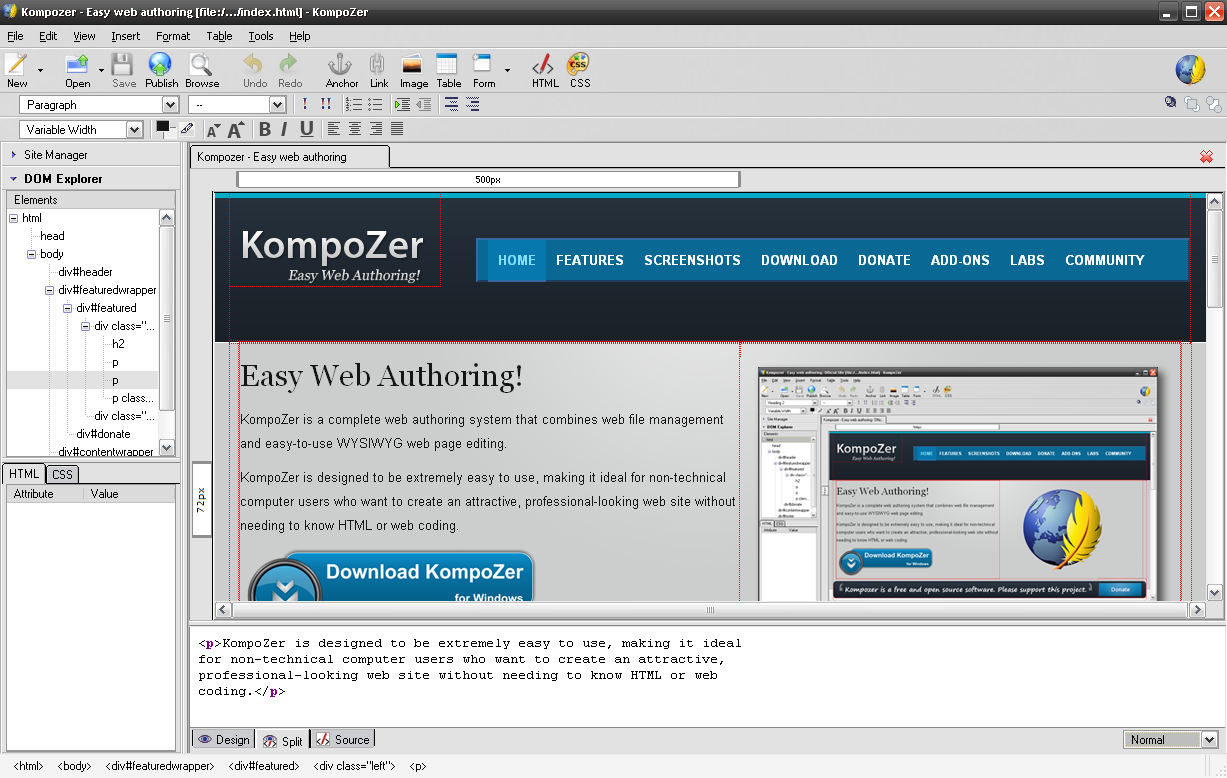 KOMPOZER WEB DESIGN HTML EDITOR EASY WEB AUTHORING MAC | eBay